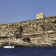Malta,  Gozo Island, view of the rocky coastline of the island - Foto de Stock