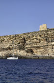 Malta, Gozo Island, view of the rocky coastline of the island — Stock Photo