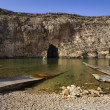 Malta,  Gozo Island, view of Dwejra internal lagoon - Stock Photo