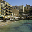 Stock Photo: Malta, Gozo Island, view of Xlendi town