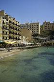 Malta, ilha de gozo, vista da cidade de xlendi — Fotografia Stock