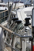 Italy, Tuscany, Viareggio, sailing boat, whinch — Stock Photo