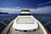 Italy, Tuscany, Elba Island, luxury yacht Azimut 75' — Stock Photo
