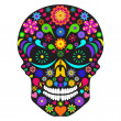 Flower skull — Stock Vector
