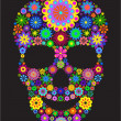 Flower skull — Stock Vector #7072810