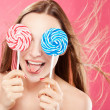 Girl with lollipop — Stock Photo #7526937