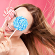 Girl with lollipop - Stock Photo