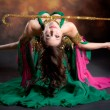 Beautiful exotic belly dancer woman — Stock Photo #7844833