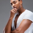 Portrait of a handsome muscular man — Stock Photo