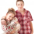 Portrait of a teenage boy and teenage girl — Stock Photo