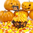 Stock Photo: Halloween cupcake