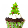 Christmas cupcake — Stock Photo #7686399