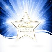 Golden Christmas star — Stock Vector
