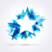 Abstract blue star — Stock Vector