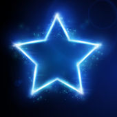 Blue star with light effect — Vector de stock
