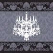 Vintage chandelier - Stock Vector