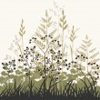 Plants and grasses background — Stock Vector #7153525