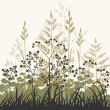 Plants and grasses background - Stock Vector