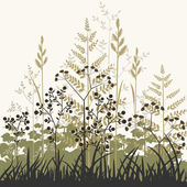 Plants and grasses background — Stock Vector