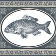 Royalty-Free Stock Vector Image: Fish antique vector illustration
