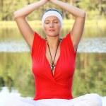 Yoga practice — Stock Photo #6836228