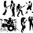 Rock and roll musicians — Stock Vector
