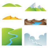 Natuurlijke aarde landschappen — Stockvector