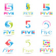 Icons for Number 5 — Stock Vector #7629910