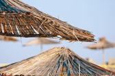 Straw umbrella — Stock Photo