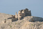 Ruin on island pag in croatia at a summer day - Ruine auf Pag — Stock Photo