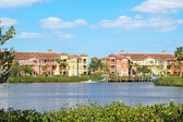 Bright colorful condo view in Florida — Stock Photo
