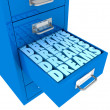 Dreams in the drawer — Stock Photo