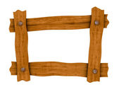 Wooden board frame — Stock Photo