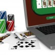 Gambling on line — Stock Photo #6948944