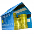 Credit card house — Stock Photo