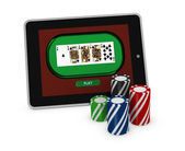 Gambling on line — Stock Photo