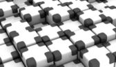 Black and white Cubes — Stock Photo