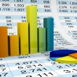 Charts and spreadsheets - Foto Stock