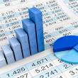 Stock Photo: Charts and spreadsheets