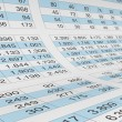 Stockfoto: Spreadsheet