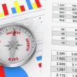 Charts and spreadsheet — Stockfoto