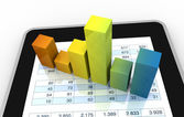 Modern financial analysis — Stock Photo