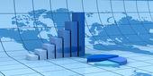 Global financial analysis — Stock Photo