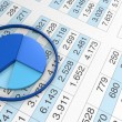 Chart and spreadsheet — Stock Photo #7438611