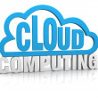 Stock Photo: Cloud computing