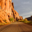 Stock Photo: Wall Street Cliffs near Moab