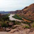 Moab Rim Jeep Trail above Colorado River — Stock Photo