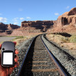 Stock Photo: Navigating Desert Southwest with GPS