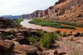 Moab Rim Jeep Trail above Colorado River — Stock Photo