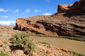 Hiking the Moab Rim — Stock Photo